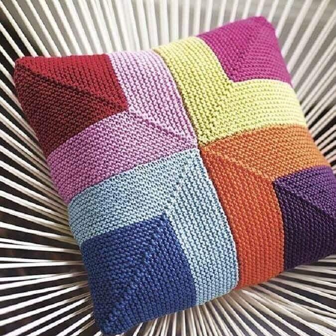 bordado colorido de croche