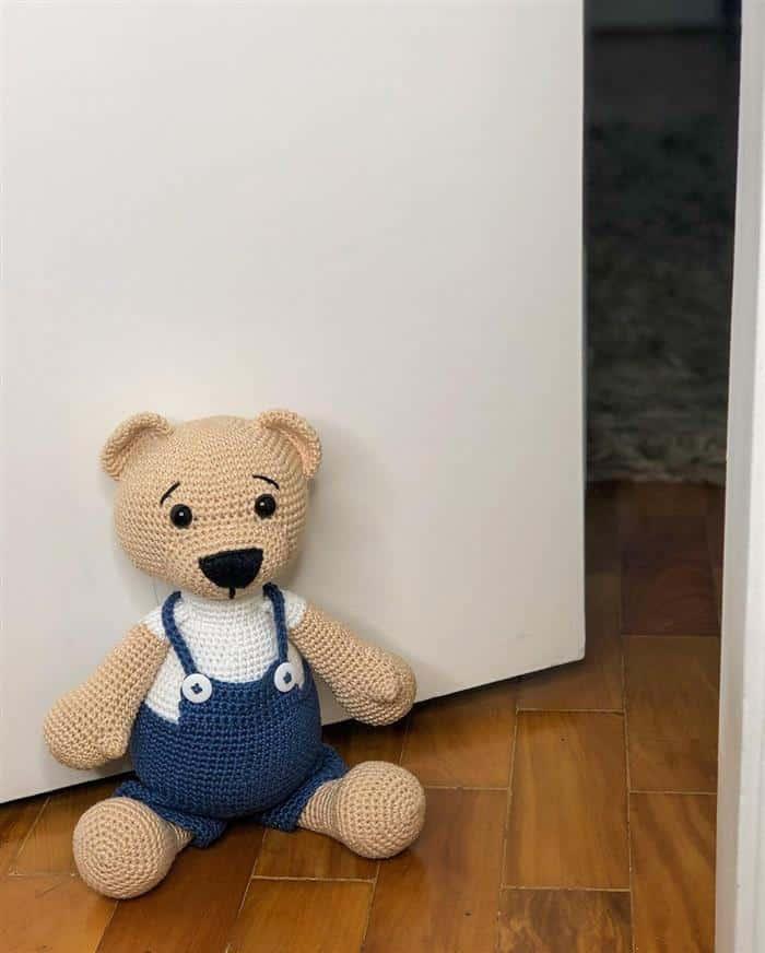 peso de porta ursinho