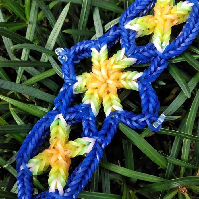 pulseira de liguinha com flores