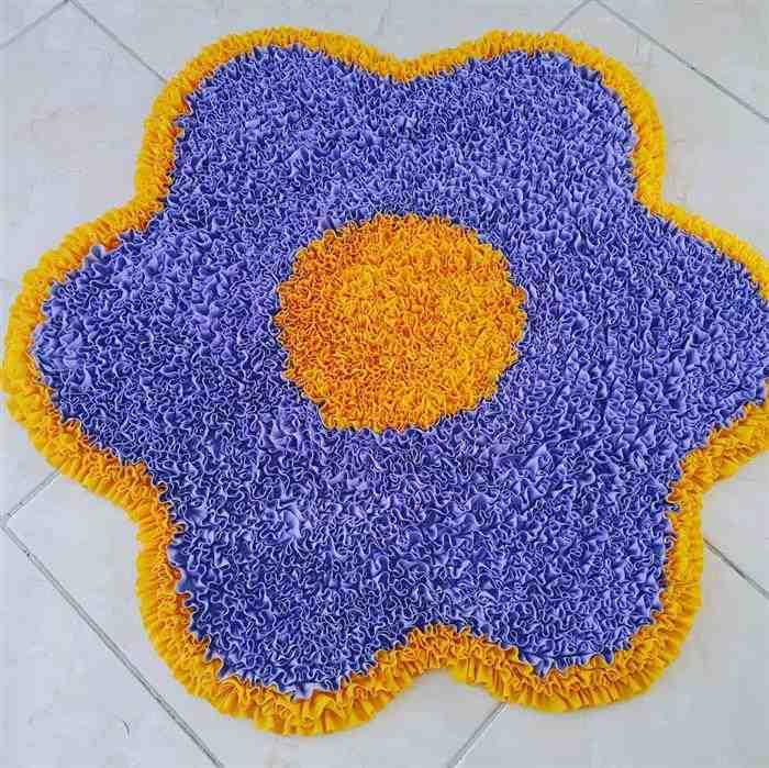 tapete de frufru de flor