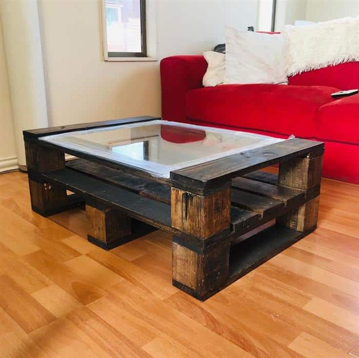 mesa feita de pallet