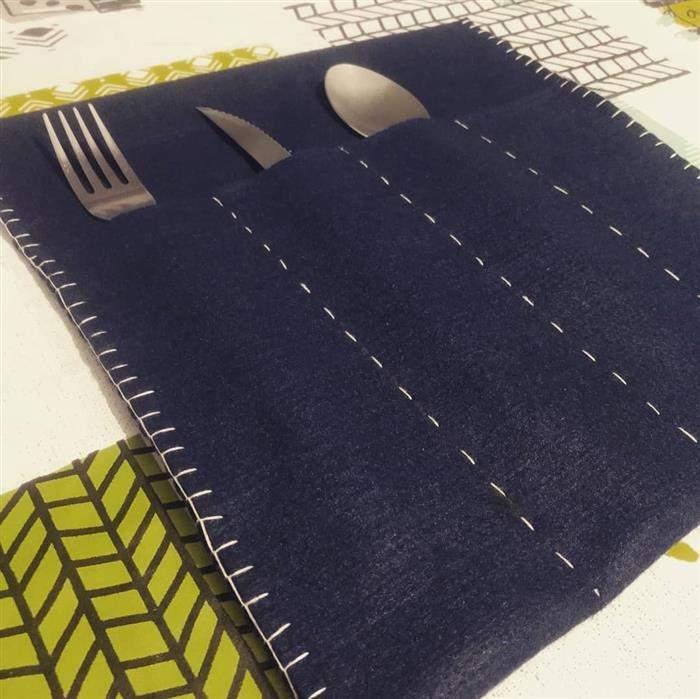 porta talheres de mesa artesanal