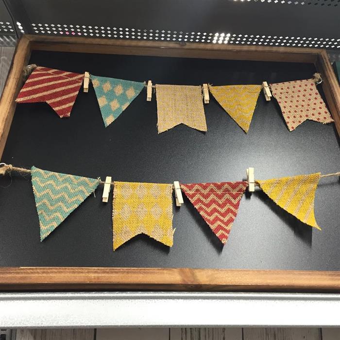 bandeirinha tecido colorido