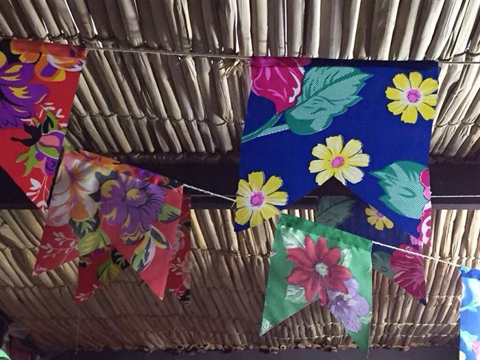 bandeirinha de tecido chita