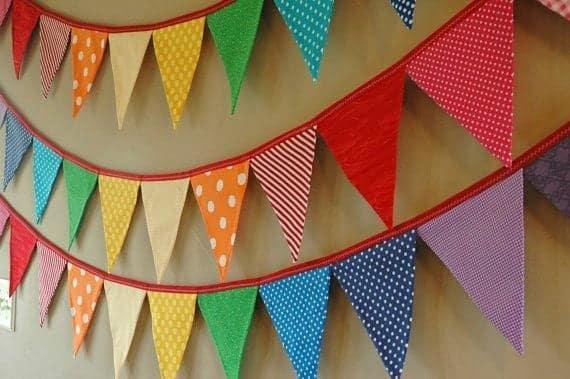 bandeirinhas de festa junina de tecido