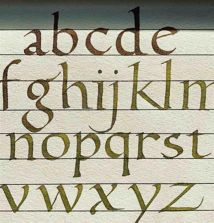 caligrafia artística alfabeto