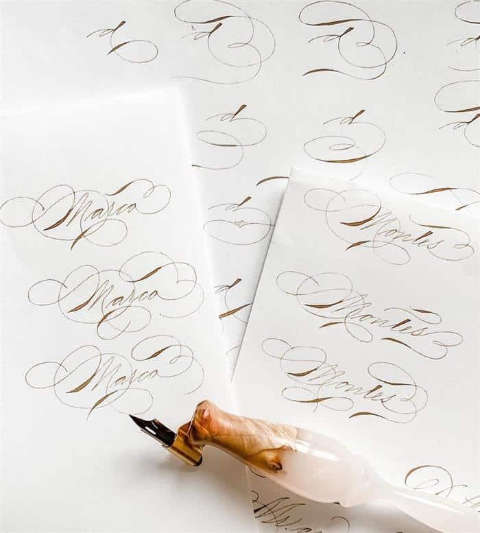 caligrafia artística para treinar