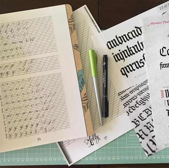 caligrafia artistica tipos de letras
