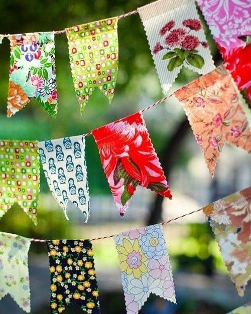 como fazer bandeirinha de festa junina de tecido
