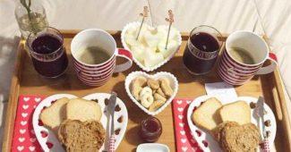 café da manhã romântico e inesquecível