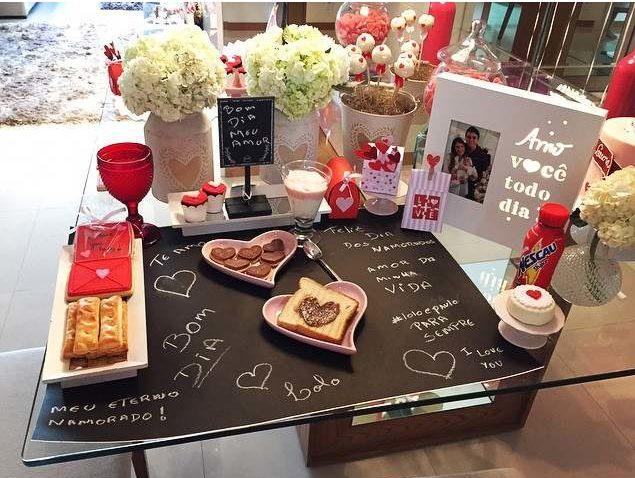 cafe da manha romantico