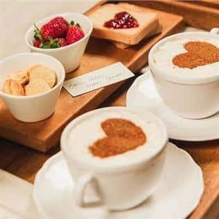 cafe da manha romantico ideias