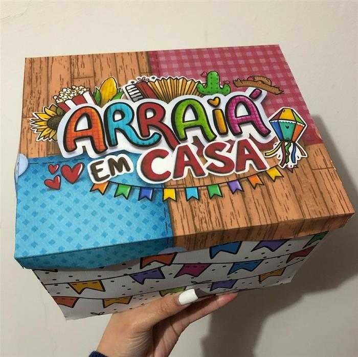 caixa para festa na caixa junina