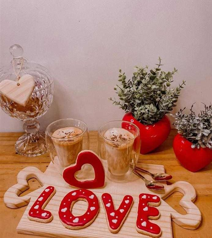 decoração café da manhã romantico