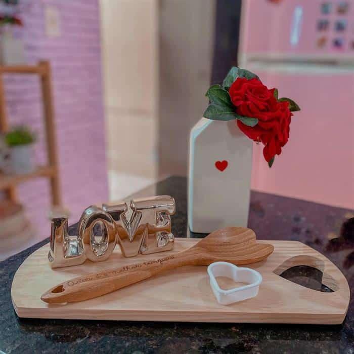 decoração para mesa do dia dos namorados