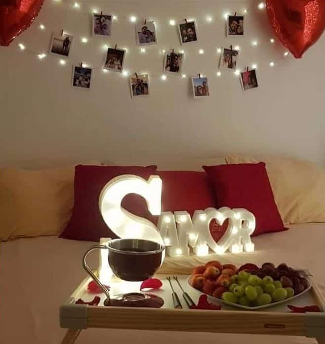 dicas de decoração surpresa para namorado
