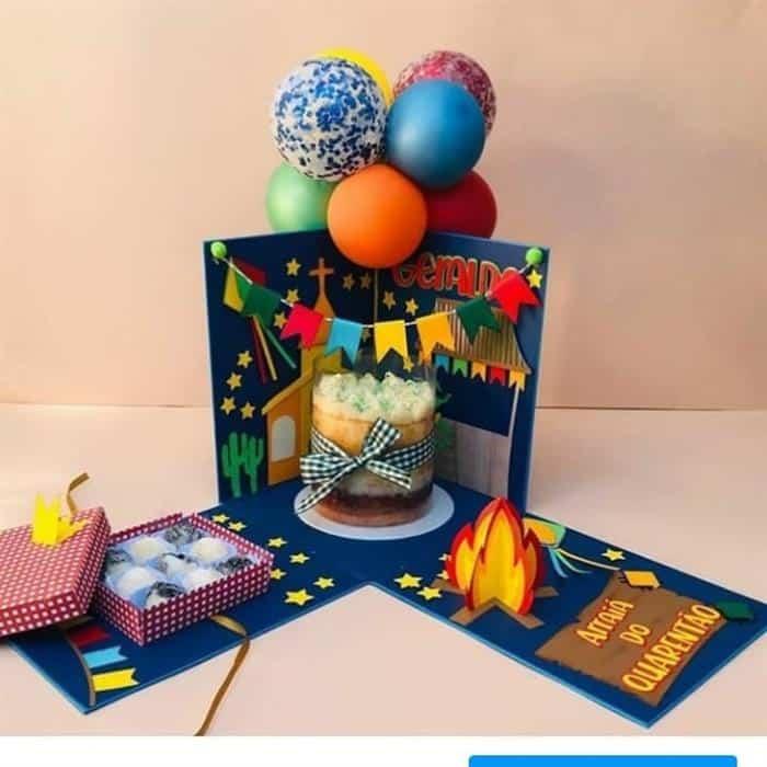 festa na caixa aniversário