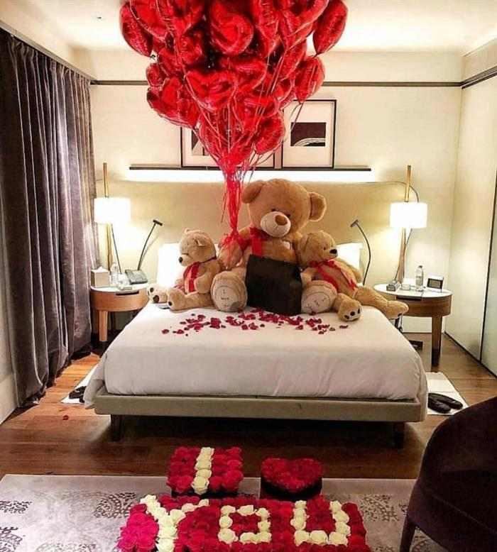 surpresa para namorado de aniversario no quarto