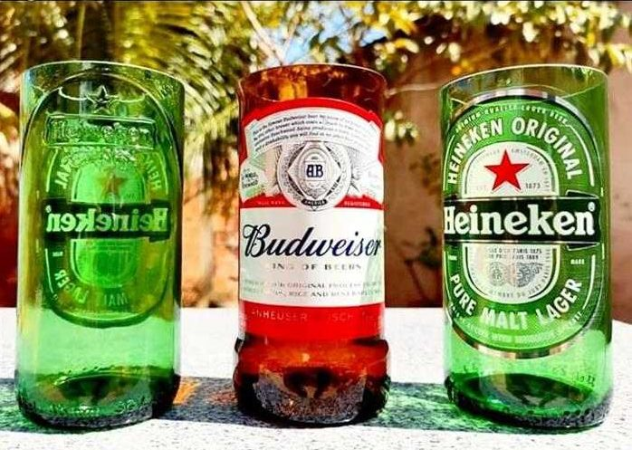 copo de garrafa de cerveja