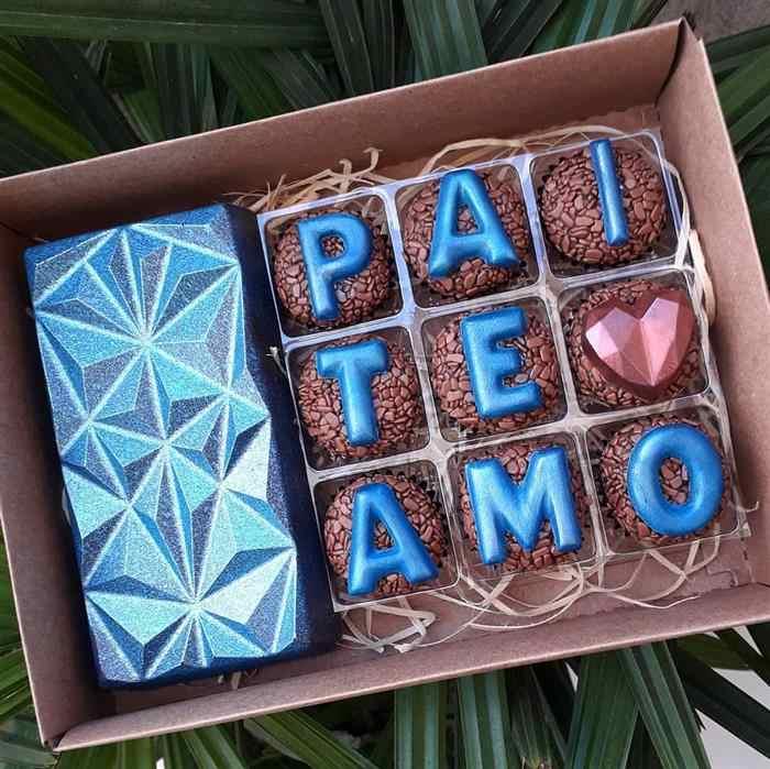 presente dia dos pais com chocolate