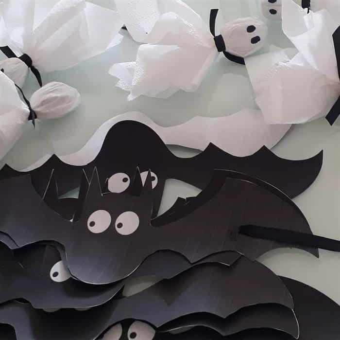 como fazer enfeites de halloween com papel