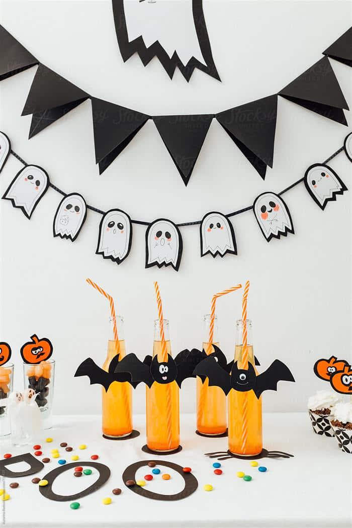 enfeite de mesa de halloween