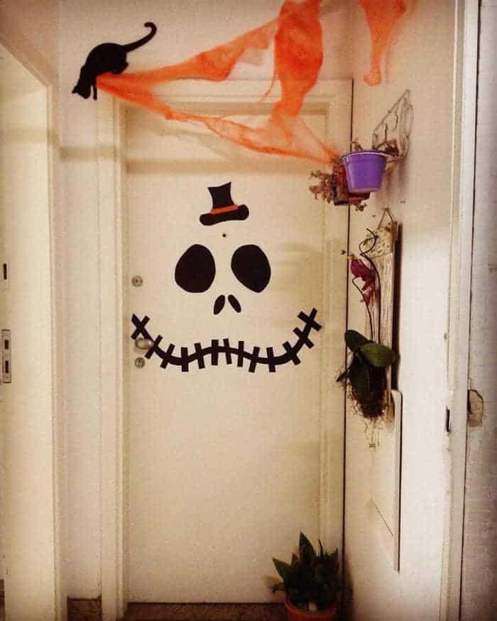 enfeite de porta de halloween