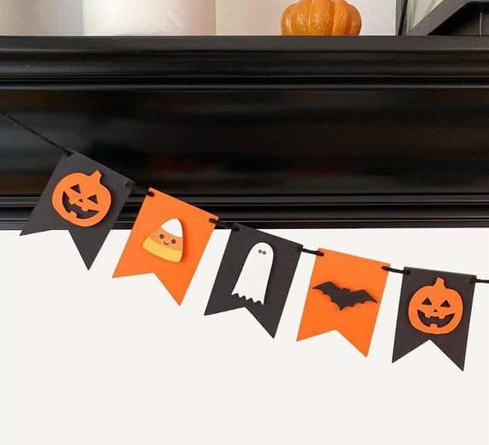 enfeites de papel para halloween