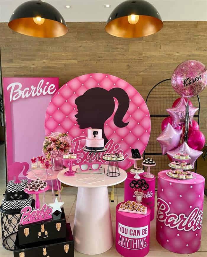 tema de festa infantil da barbie