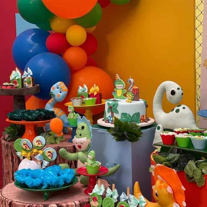 tema de festa infantil de dinossauro