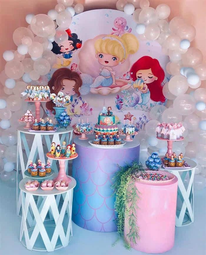 tema de festa infantil de princesa