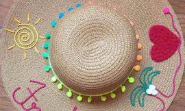 Como fazer chapéu com nome bordado